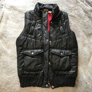 Black Puff Vest